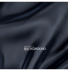 Black silk fabric vector