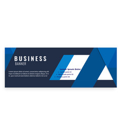 blue modern business banner design image vector image