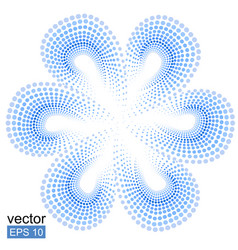 Blue tiare flower doted pattern monoi flower vector