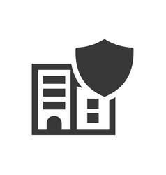 Building insurance icon vector