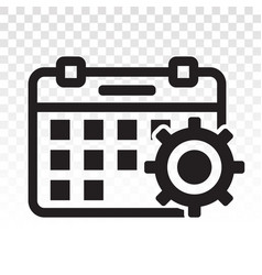 Calendars appointment schedule flat icon icon vector
