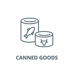 canned goods line icon canned goods vector image