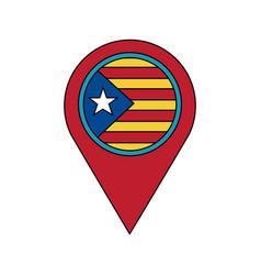 Catalunya flag gps pin icon image vector