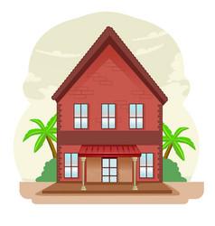 Classic home flat design vector