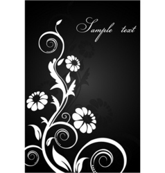 Classical floral background vector