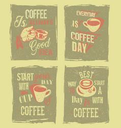 Coffee break retro vintage vector