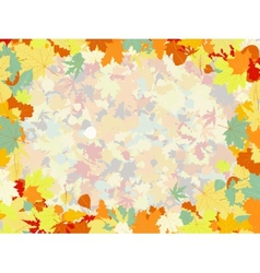 Colorful background of fallen autumn leaves eps 8 vector