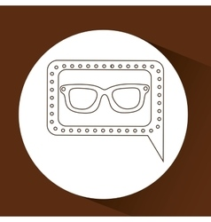 concept hipster fashion glasses graphic vector image
