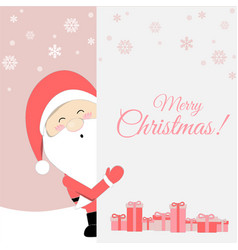 cute santa claus cartoon lovely christmas vector image