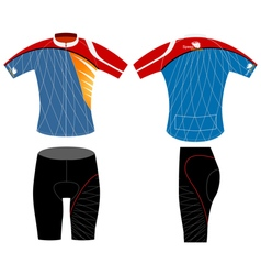 Cycling vest design vector