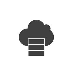database server cloud computing icon vector image