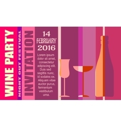 Design for wine event Wine event party invitation vector image
