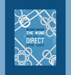 different nautical sailor knots and ropes vector image