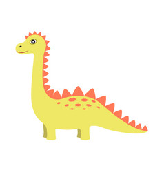 Dinosaur of yellow color vector