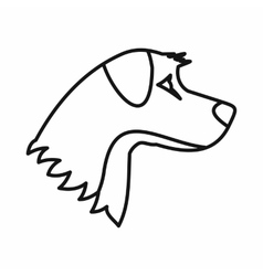 Dog icon outline style vector image