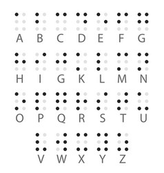English braille alphabet letters vector