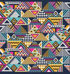 ethnic abstract seamless pattern vector image