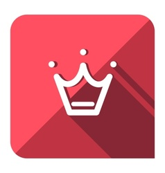 Favorite crown icon vector image
