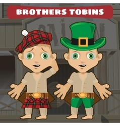 Fictional cartoon character - brothers vector