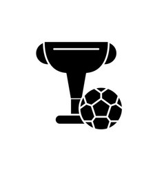 football cup black icon sign on isolated vector image