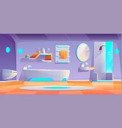 futuristic bathroom interior furniture and stuff vector image