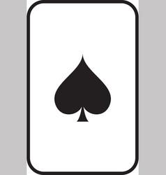 gambling card icon glossy mesh spades vector image