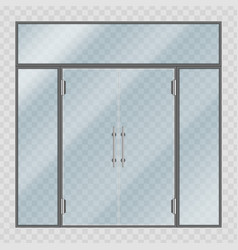 glass entrance door vector image