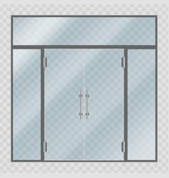 Glass entrance door vector
