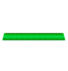 green ruler isolated on white background vector image