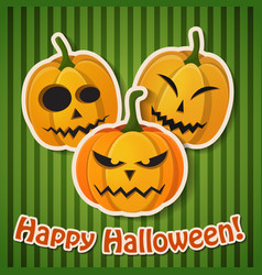 halloween holiday greeting poster vector image