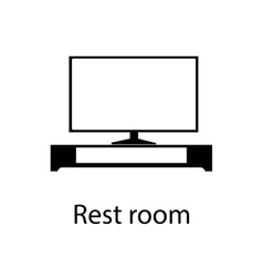 Home and hotel rest room interior with furniture vector image vector image