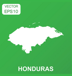 Honduras map icon business concept honduras vector