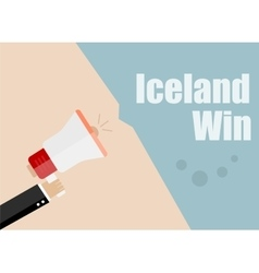 Iceland win Flat design business vector