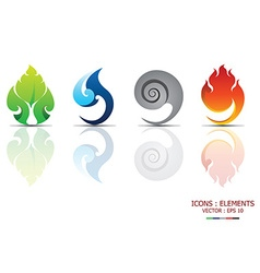 Icons Elements vector