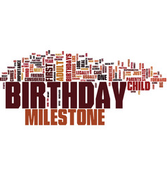Importance milestone birthdays text vector