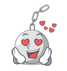 In love wrecking ball isolated on a mascot vector