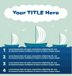 infographics elements ship in sea 4 steps vector image