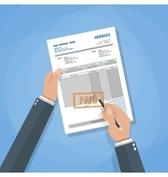 Invoice sign up vector