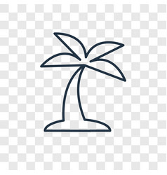 island concept linear icon isolated on vector image