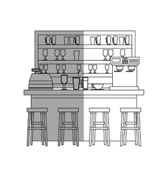 Isolated coffee shop design vector