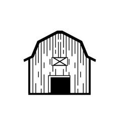 Line art farm house for agriculture vector