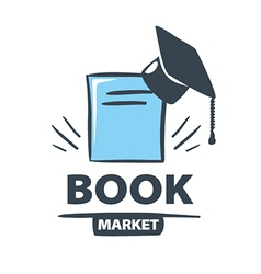 Logo Oxford cap on the book vector