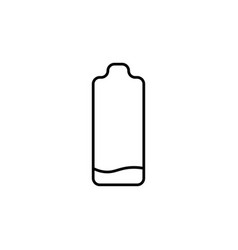Low level battery icon vector