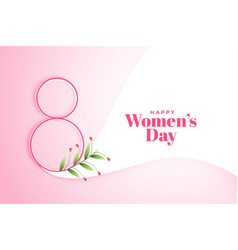 March 8th happy womens day poster design vector