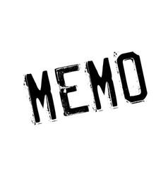 Memo rubber stamp vector