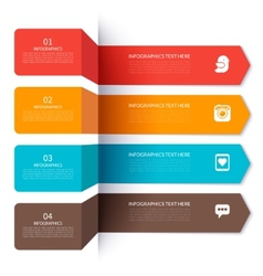 Modern arrow elements for infographics vector image
