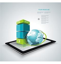 Modern box design minimal style infographic vector
