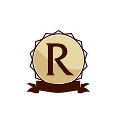 Modern logo solution letter r vector
