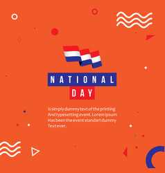 Netherlands national day template design vector