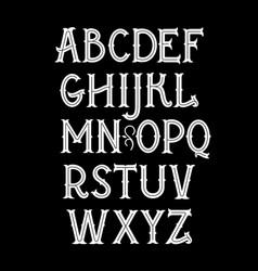 Original vintage art nouveau font alphabet vector